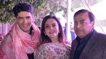 Manish Malhotra arrives in Udaipur for the pre-wedding festivities of Isha Ambani and Anand Piramal.