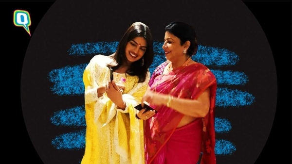 Priyanka with her mother Madhu Chopra