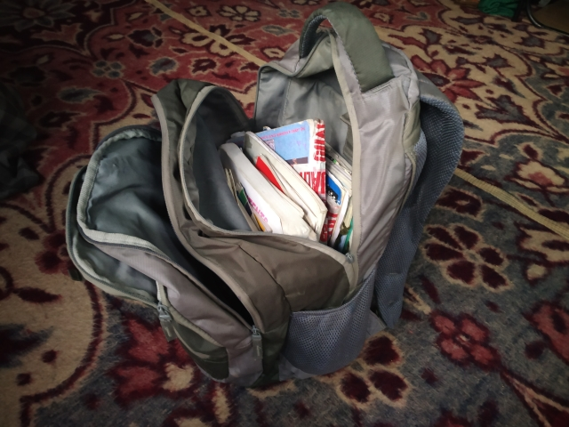 Andleeb's school bag.