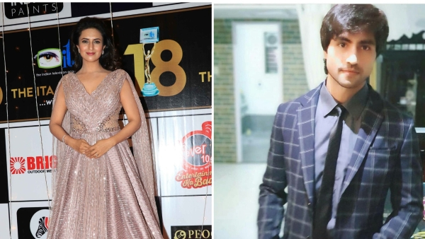 Divyanka and Harshad at the awards night.