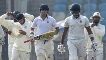 Gautam Gambhir scored an unbeaten 92 on the second day of his farewell match.