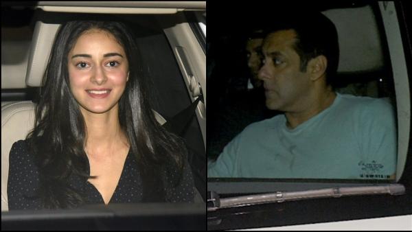 Ananya Pandey / Salman Khan arrive at Nandita Mahtani's birthday party.
