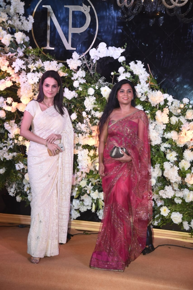 Actor Rajeshwari Sachdev arrives for the bash.