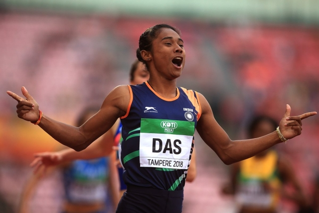 Hima Das won gold in women's 400 metre event at IAAF World U20 Championship