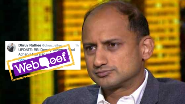 Reports of Viral Acharya's resignation as RBI Deputy Governor started doing rounds on social media.