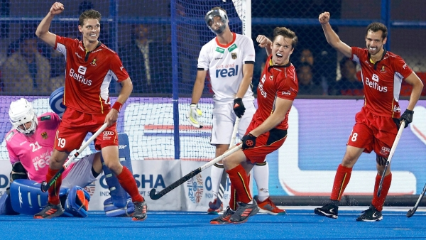 Olympic silver medallist Belgium qualified for the semi-finals of the men's hockey World Cup for the first time ever.