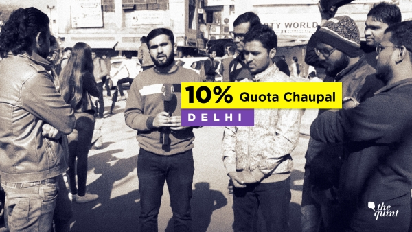 UPSC aspirants in Delhi speak to The Quint about 10% reservation for economically weaker sections of upper caste.