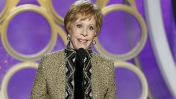 Comedy icon and actor Carol Burnett was honoured as the eponymous winner of the first-ever award in her name at this year's Golden Globes.