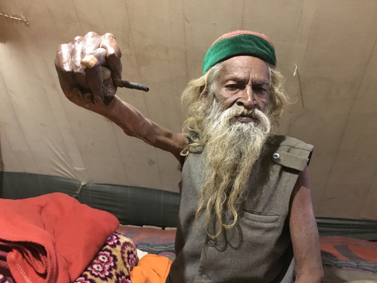 This baba has been meditating for 50 years now.