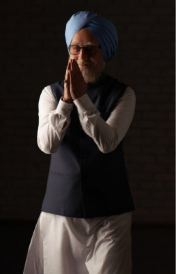 "Actor Anupam Kher as former Prime Minister Manmohan Singh in ""The Accidental Prime Minister""."
