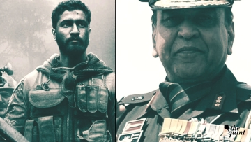 Image of 'Uri' film poster (L), and ex Uri Brigade Commander Syed Ata Hasnain (R), used for representational purposes.