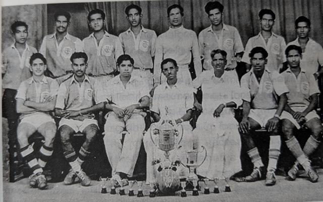 A photograph of the Tanjore United Sports club, where Sundararaj started his football career.