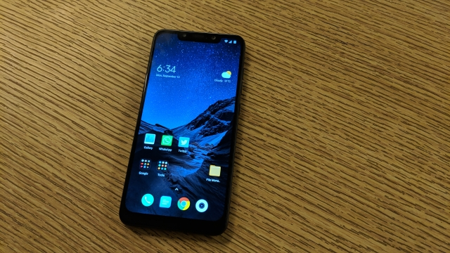 The Poco F1 uses a basic screen panel, which isn't very bright.