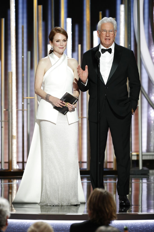 Julianne Moore and Richard Gere during the 76th Annual Golden Globe Awards.