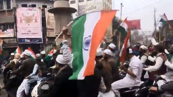 Youth Celebrate R-Day  With Bike Rally And Tricolours in Varanasi