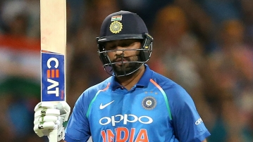 Rohit brought up his century in the 40th over and took only 110 balls.