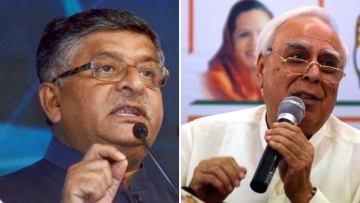 "Ravi Shankar Prasad asked if the event was sponsored by the Congress to ""defame the popular mandate"" of India."
