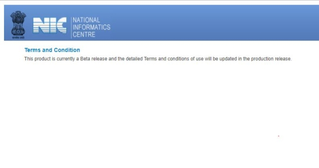 The website is being maintained by the National Informatics Centre