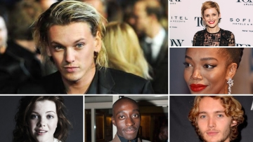 (Clockwise from top) Jamie Campbell Bower, Denise Gough, Naomi Ackie, Toby Regbo, Ivanno Jeremiah, and Georgie Henley.