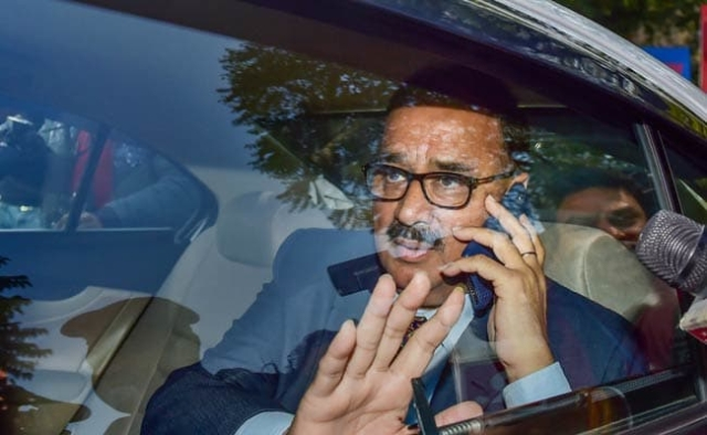Former Central Bureau of Investigation (CBI) chief Alok Verma arrives at the CBI headquarters in New Delhi, on Wednesday, 9 January, 2019. Verma, on Thursday, 10 January, was unceremoniously removed from the post by a high-powered selection committee after the Supreme Court reinstated him as the CBI director.