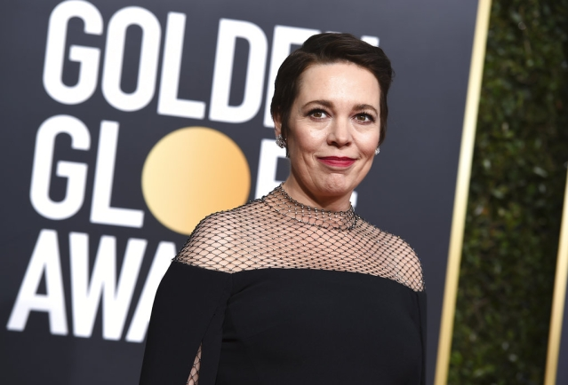 Olivia Colman  at the 76th annual Golden Globe Awards.
