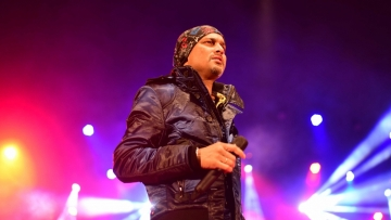 Singer Zubeen Garg at a cultural festival in Assam.