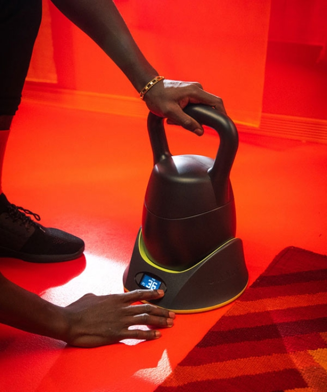 The KettlebellConnect comes with integrated sensors.
