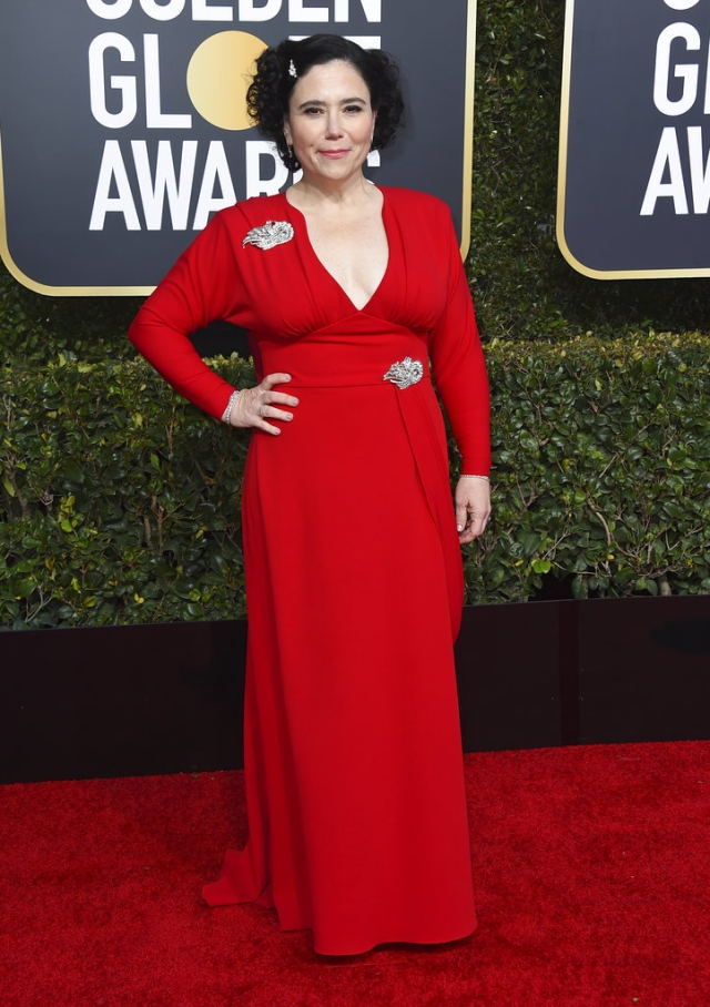 Alex Borstein paints the town red.
