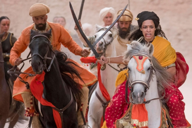 Devika Bhise stars as Rani of Jhansi in <i>Swords and Sceptres</i> (2019).