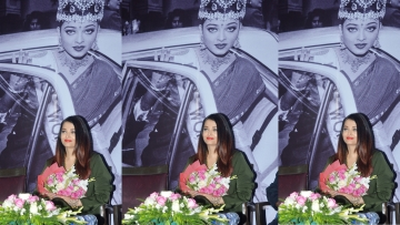Aishwarya Rai Bachchan at the Press Club for a photography exhibition.