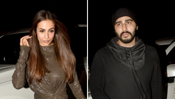 Malaika Arora and Arjun Kapoor brought in the New Year together.