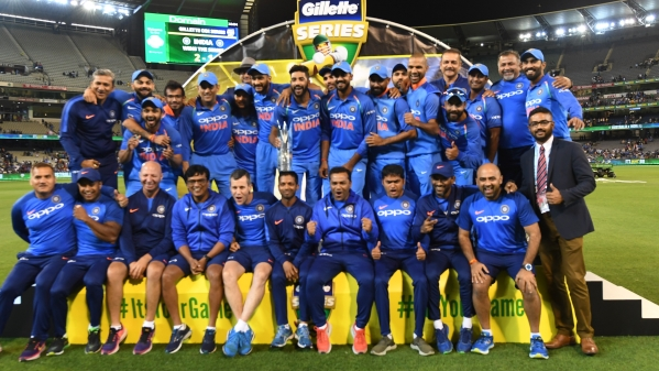 The Indian cricket team won the ODI series against Australia.
