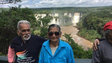 Kerala's 'tea-shop couple' Vijayan and Mohana have ticked off 23 countries in less than 12 years.