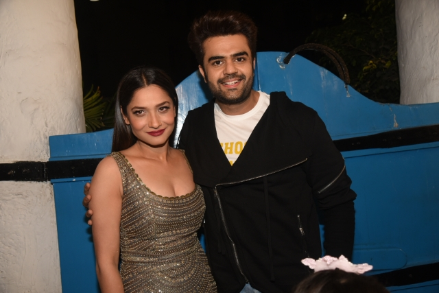 Ankita Lokhande seen here with Manish Paul.