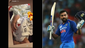 Daughter Samaira Watches From Home as Dad Rohit Sharma Smashes Ton