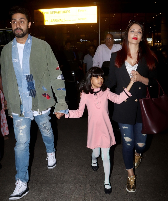 The Bachchans are back from their vacation.