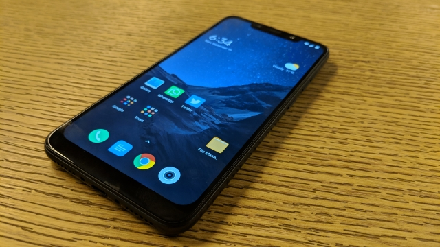 Poco F1 packs a wider notch on top of the display.