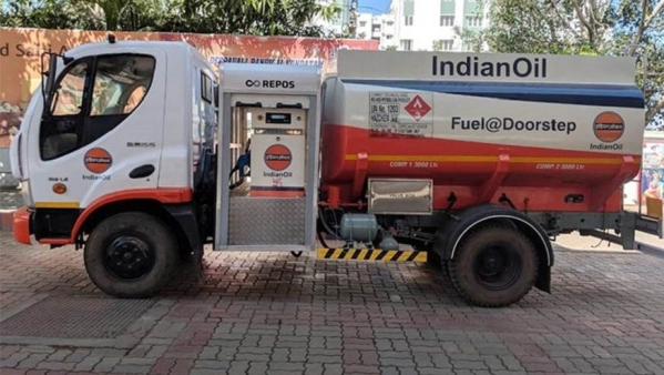 This diesel delivering truck has been launched in Chennai.