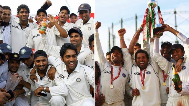 Teams captained by Rahul Dravid ended lengthy waits for Indian Test series wins in West Indies (left, 2006) and England (right, 2007).