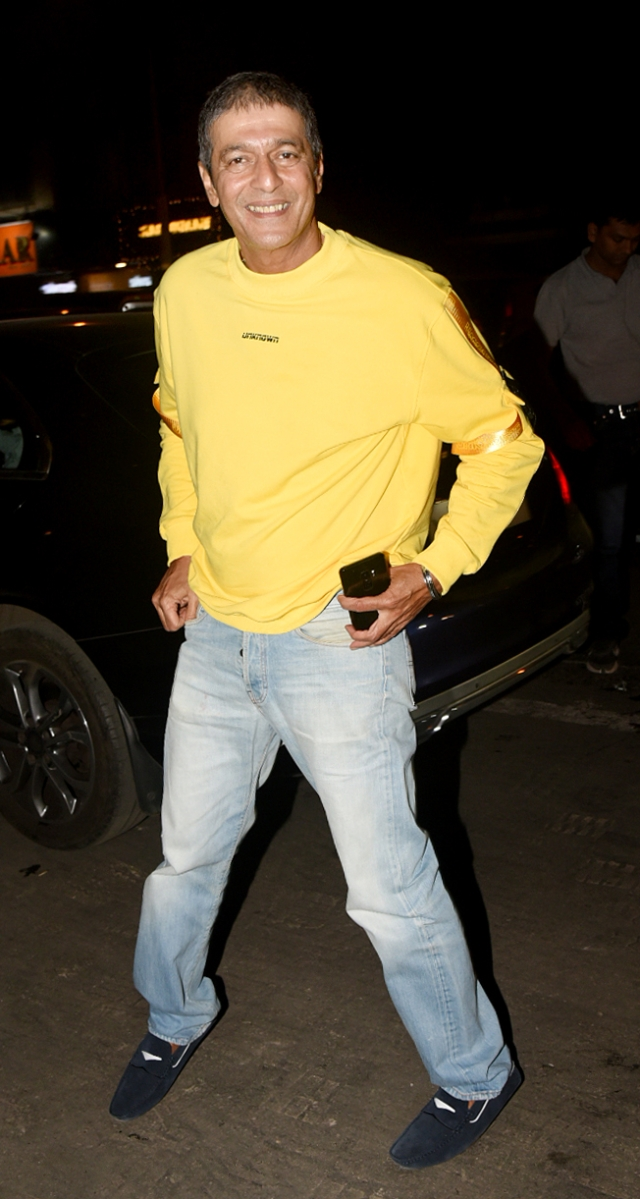 Chunky Pandey is all set to party.