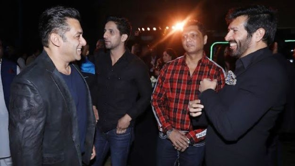 Salman Khan catches up with Kabir Khan at the event.