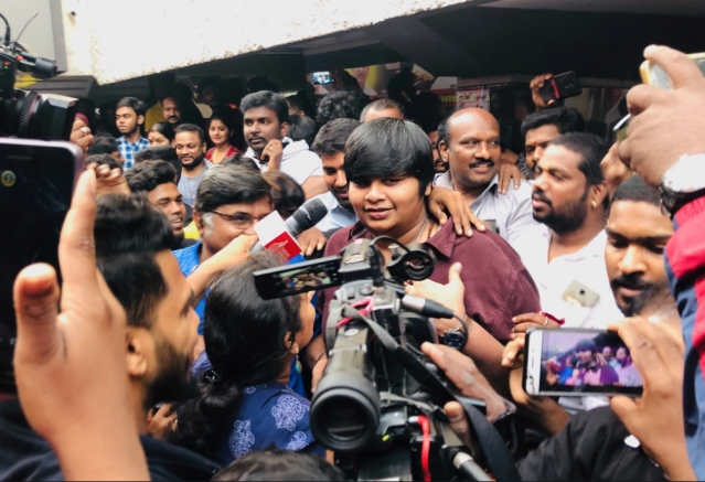 Karthik Subbaraj after the screening of Petta.