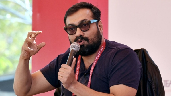 Director Anurag Kashyap speaking at an event.