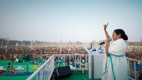 West Bengal Chief Minister Mamata Banerjee at United India Rally.