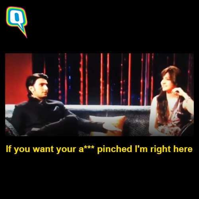 Yes, Ranveer Singh actually said this on television in 2011 to Anushka Sharma who sat beside him.