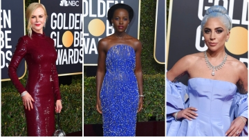 Nicole Kidman, Lupita Nyong'o and Lady Gaga on the 76th Golden Globes Award red carpet.