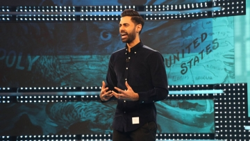Comedian Hasan Minhaj explores modern culture and politics in <i>Patriot Act with Hasan Minhaj</i>.