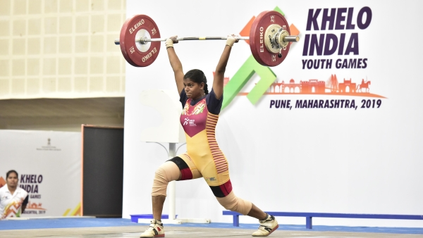 AkshataBasvani Kamati of Karnataka has won a gold medal in the under-21 age 71 kg category in weightlifting at the Khelo India Youth Games.