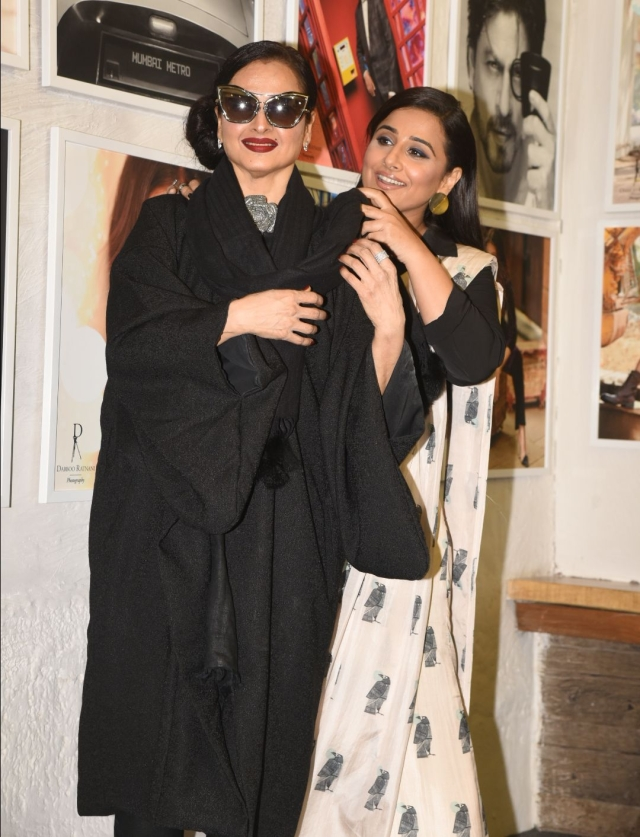 Vidya shares a laugh with Rekha.
