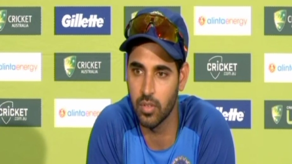 India's Bhuvneshwar Kumar during the press conference ahead of the second ODI in Adelaide.